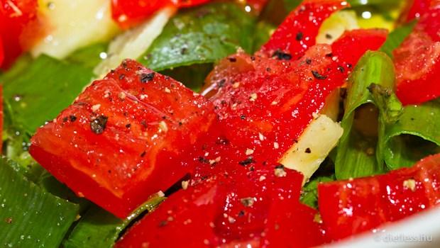 Lazac mentás salsa mártással