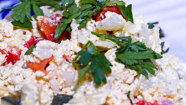 Tofus frittata recept • Receptek képekkel • Dietless