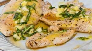 Sült csirke olivás mártással